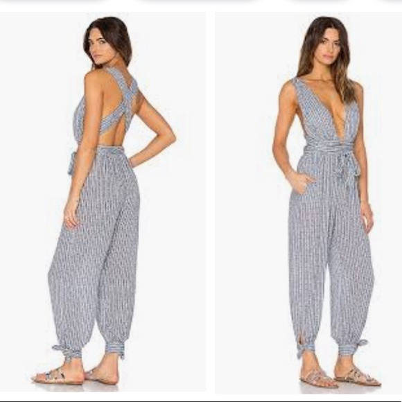 Mara Hoffman Pants - Mara Hoffman Pinwheel Wrap Jumpsuit in small